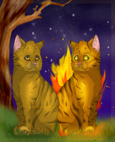 The Two Sides of Lionblaze xx by TheMoonfall