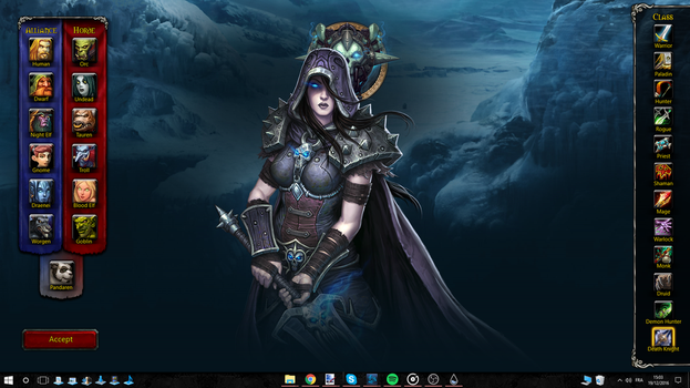 World of Warcraft Rainmeter Interactive Wallpaper by Akmos37