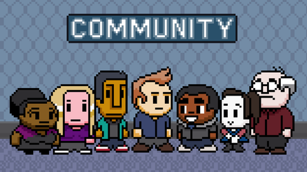Community 8-bit wallpaper by zequihumano