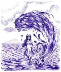 Water whale by laredcarpette