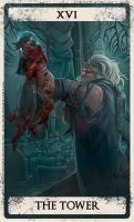 Bloodborne tarot XVI by Wingless-sselgniW