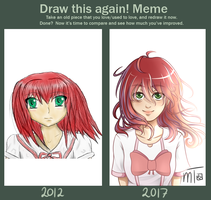 Draw This Again Meme by mewTalina