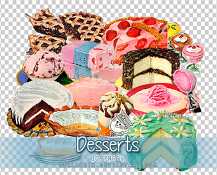 Desserts PNGs by Bellacrix