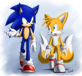 Sonic And Tails by G-Wolfe