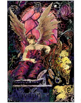 Tarot Series: Strength Color by QuestingRaven