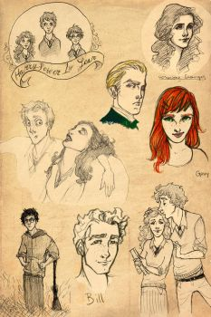 Harry Potter Sketch Dump by aberry89