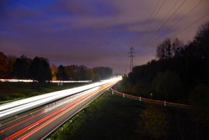 2864 Motorway by night by RealMantis