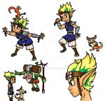 Jak and Daxter Doodles by MissGameandWatch