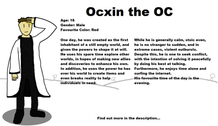 Character Refrence: Ocxin by Ocxin