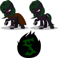 MLP OC: Shadow Thorn by mewtwo-EX