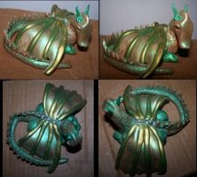 Polymer Dragon - Green by HippieKender