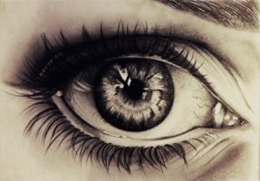 Pencil study of Eye by NatalieBorg