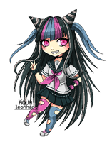 [Pixel Art] Ibuki Mioda by AquaLeonhart