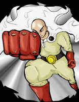 Let's Draw Saitama from One Punch Man by Fragraham