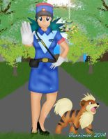 Officer Jenny stop where you are! by DannimonDesigns