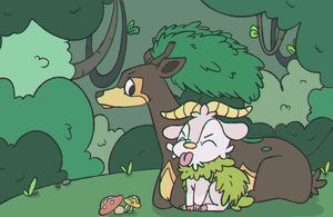 Sawsbuck and Skiddo Pokecember -  Day 3
