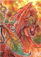 ACEO Orange Fall by Sysirauta