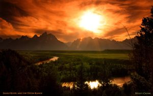 Snake River and the Tetons by TheCronkodile