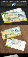 Green Eco Fair Ticket -Psd by squizmo