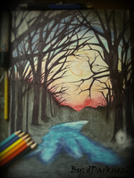 moon in the woods | traditional art by dDarknezZ