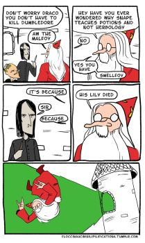 Dumbledore's Killer Pun by grimmerr