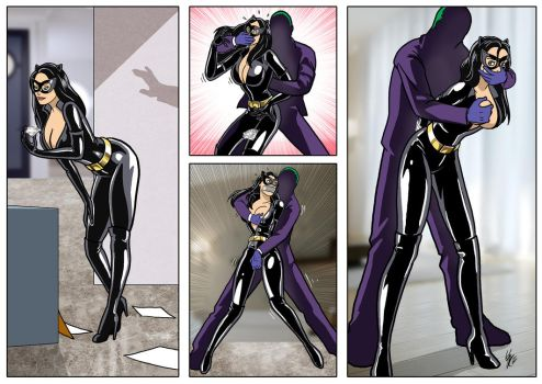 Catwoman Comic: Burglary Gone Wrong by kdrfc6787