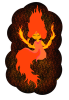 Adventure Time: Flame Princess Scarf by KitKatMuffin