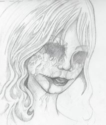 Unfinished Eyeless Shadow Queen by vangoghgirlie