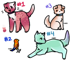 Lil' animal adopts (1/4 Open) by CupcakeForMyKitten