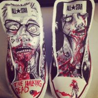 Walking Dead Chucks by RICKYsneeze