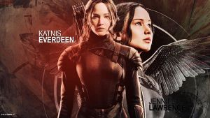 Hunger Games Katniss Wallpaper by perlaque