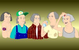 Founding Fathers as Rednecks by truncheonm