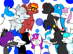 Friend group picture- Read description please! by galaxyghosts