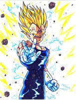 majin vegeta atomic blast by trunks24