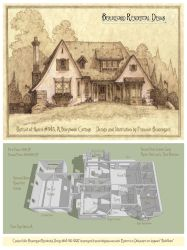 Portrait/Plan of House 345C, A Storybook Cottage by Built4ever