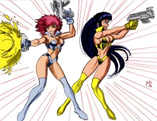 Dirty Pair Commission by powguero by Kenkira