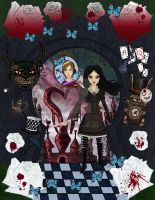 Alice Madness Returns with Pewdiepie by LuffyNoTomo