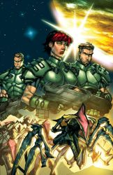 Starship Troopers issue4 cover by kieranoats