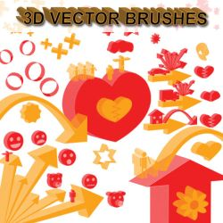 3D Objects - Vector Brushes by Z4m0lx3
