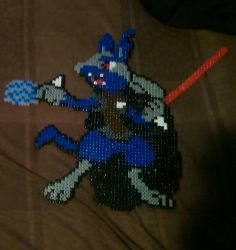 sith lord lucario star wars Pokemon mix perler  by Nastiwolf