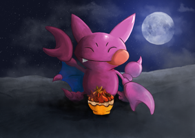 Gligar Eating a Pokepuff