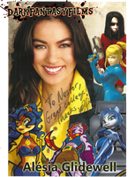 Alesia Glidewell's Autographed Collage by xxXSketchBookXxx