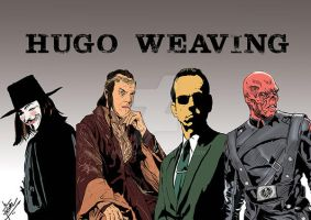 different faces of hugo weaving by mrinal-rai