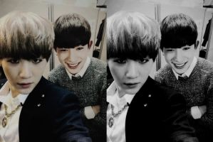Suga and Wonho manip {BTSxMONSTA X} by HappyFaceIrene
