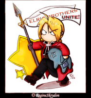 Ed and Alphonse by RedxMochi