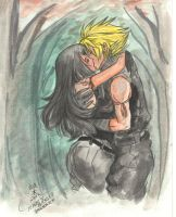 Cloud and Tifa by uekiOdiny