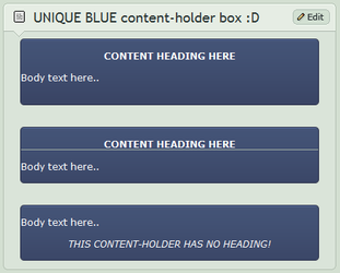BLUE content-holder box by CypherVisor