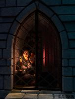 Warcraft: Lady Rose In The Tower by Belvane