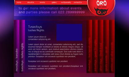 Oro Lounge n Kitchen EventPage by Javagreeen