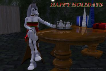 Beth The White Guardian Christmas 2012 by S-White-Pony-Kidwell
